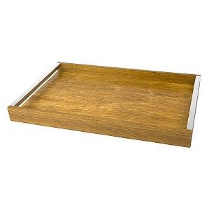 Bandeja de madeira naturals 25cm