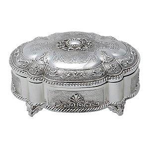Porta jóia prateado 20cm