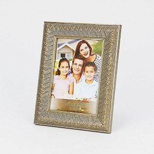 Porta retrato rustic prateado 13x18cm