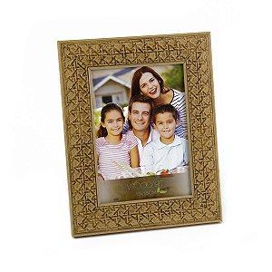 Porta retrato palha clara 20x25cm