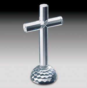 Crucifixo de vidro 19cm