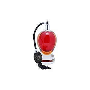 Vidro p/ perfume c/ borrifador vermelho