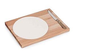 Tábua de queijo com faca