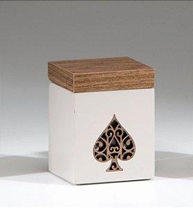 Caixa de baralho Cassino - Pergaminho