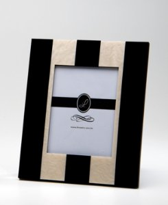 Porta retrato Stripes Preto 10x15