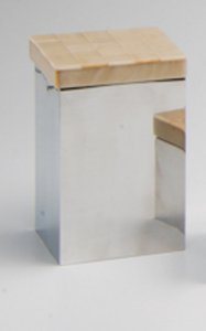 Caixa p/ cotonete Giuli - Bege