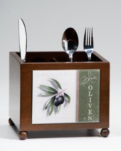 Porta talheres Black Olives