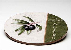 Prato giratório Black Olives