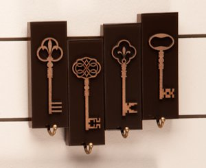 Porta chaves Keys - Marrom - 4 chaves