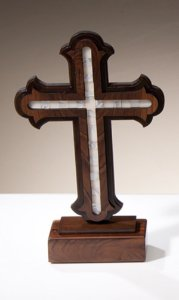 Crucifixo p/ mesa Jerusalém