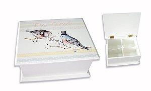Caixa de Chá Pássaros