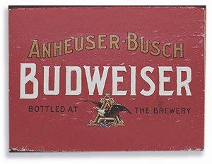 Placa metal Budweiser