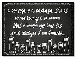 Placa Cerveja e Cachaça