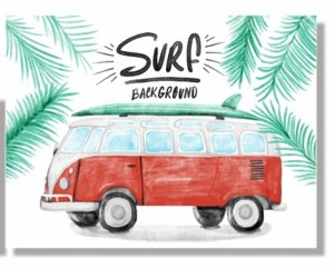 Placa Surf Kombi