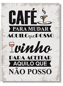 Placa Café e Vinho