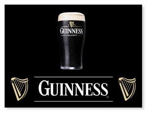 Placa Guinness Black