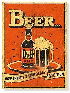 Placa Beer Duff