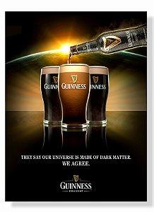 Placa Guinness Garrafa