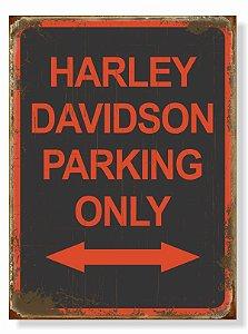 Placa Harley Parking Seta