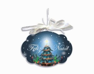 Placa Natal Noite Azul