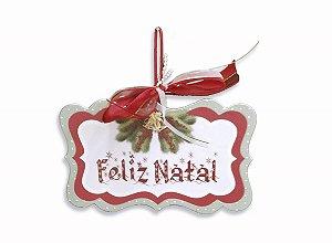 Placa Natal Festivo