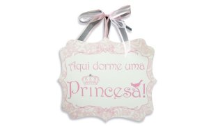 Placa Princesa Laços