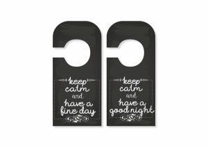Aviso de Porta Keep Calm