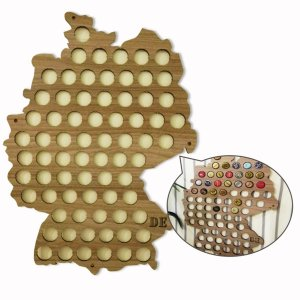 Quadro de Tampinhas Mapa Alemanha