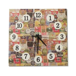 Relógio Quadrado Rótulos