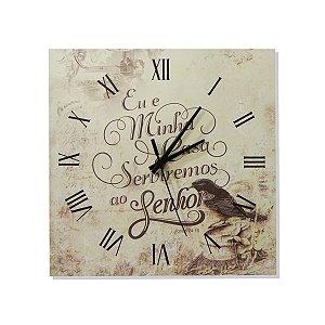 Relógio Quadrado Oração