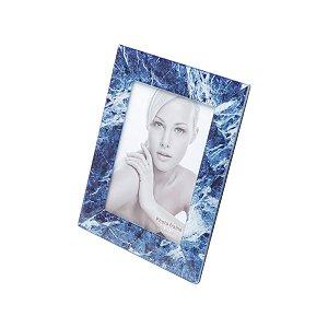 Porta retrato Mármore azul 13x18cm
