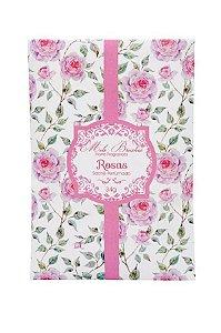 Sachê perfumado Rosas 34g - 5 unidades