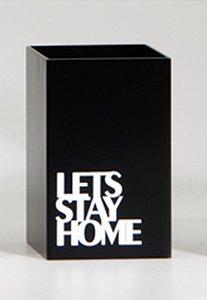 Porta controle Stay Home - Preto