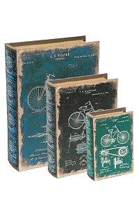 Kit Livro Caixa Bicicleta - 3 peças