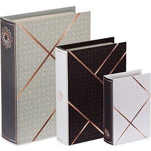 Kit Livro Caixa - 3 peças