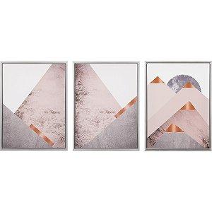 Kit quadros decorativos - 3 peças
