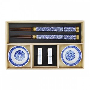 Kit Comida Japonesa Azul - 2 pessoas