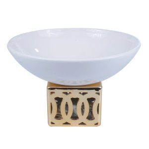 Centro de mesa Branco c/ Dourado