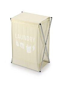 Cesto Roupa Laundry Creme