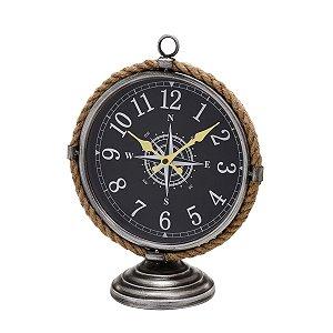 Relógio de mesa Bússola Preto