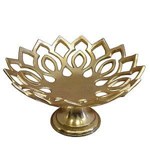 Centro de Mesa Metal Dourado