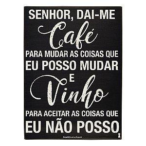 Quadro Box Café Vinho 30x40cm