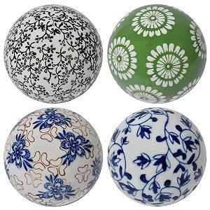 Conjunto 4 Bolas Coloridas 10cm