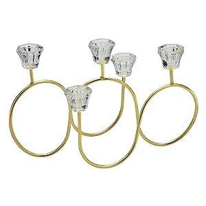 Candelabro Dourado p/ 5 Velas