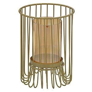 Candelabro Metal Dourado 18cm