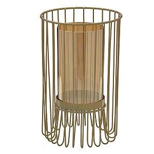 Candelabro Metal Dourado 25,5cm