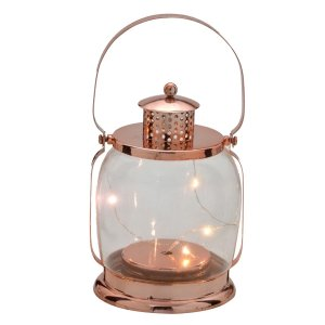 Lanterna Led Rosé 17cm