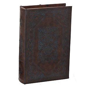 Caixa Livro Marrom Escuro