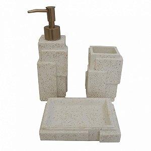 Kit p/ Banheiro Resina - 3 Peças