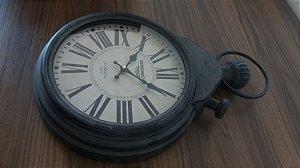 Relógio de Parede Rústico Cinza